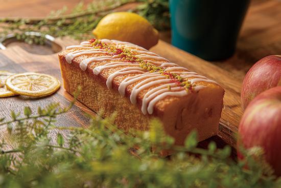 林檎とレモンのチーズケーキ