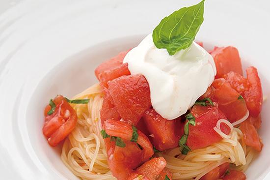 冷製モッツァレラトマトパスタ
