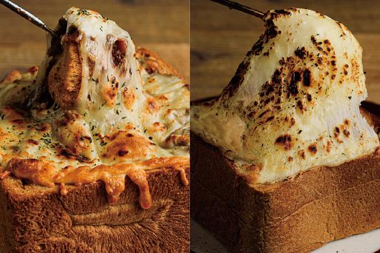 厚切りチーズキーマカレートースト/厚切りチーズグラタントースト