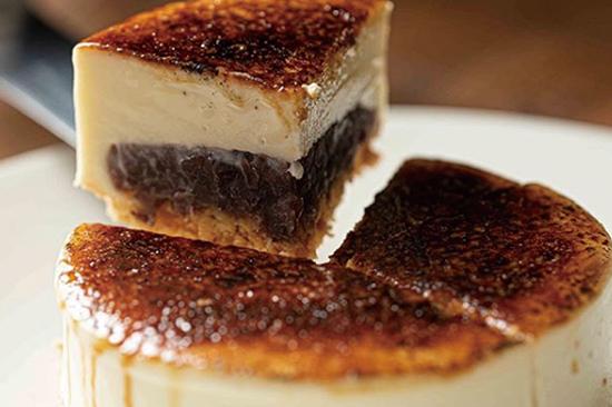 レアチーズ餡蜜ブリュレ
